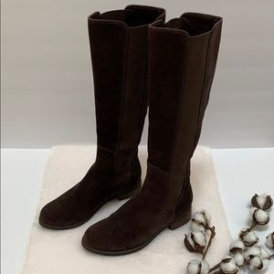 Cole Haan Brown Suede Tall Boots Size 6